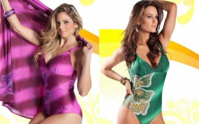 A segunda mais votada pelos internautas foi a Miss Piauí, Renata  Lustosa, e Priscila Machado, Miss Rio Grande do Sul, ficou em terceiro lugar
