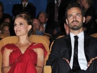 Natalie Portman com o futuro marido Benjamin Millepied