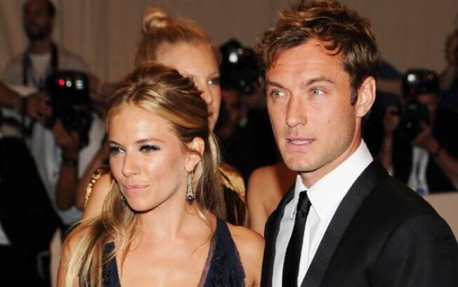Sienna Miller e Jude Law: acabou, pela segunda vez