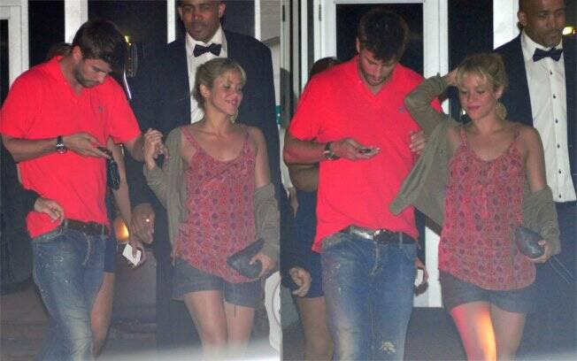 Gerard Piqué e Shakira saem de boate às 4hda manhã, em Miami