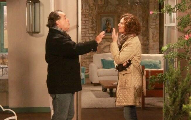 Tony Ramos e Patrícia Pilar gravam cenas de