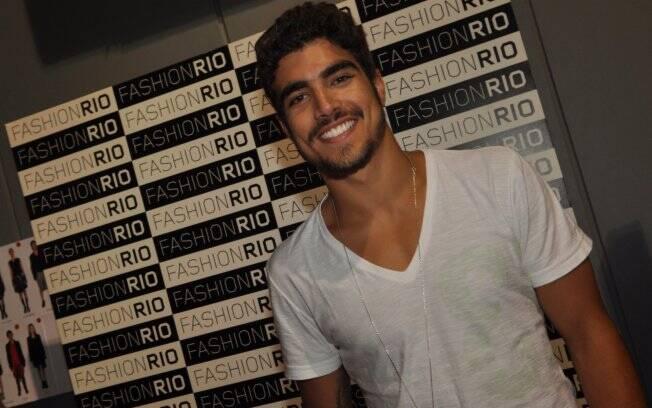 Caio Castro no Fashion Rio