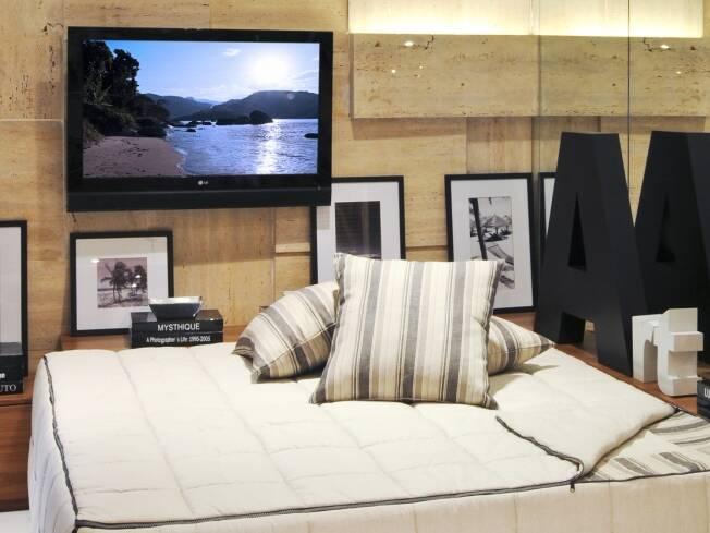 Fotos De Sala Com Tv Lcd Na Parede ~ TV na parede sem riscos  Mirna Zambrana  iG