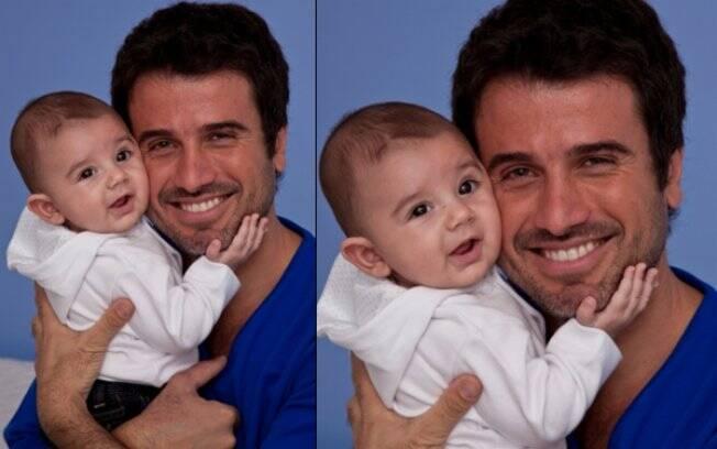 Eriberto Leão com o filho, João
