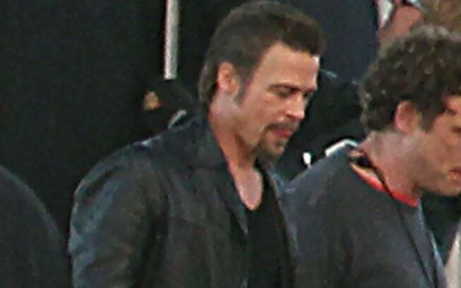 Brad Pitt: rodando seu novo filme em Nova Orleans