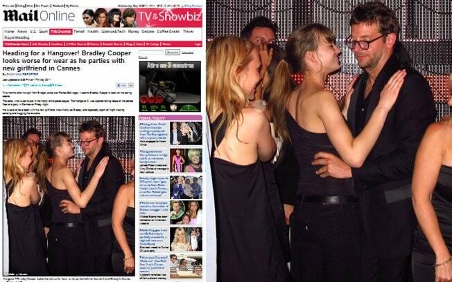 Bradley Cooper e a nova namorada em Cannes