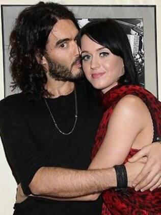 Katy Perry e seu atual namorado Russel Brand