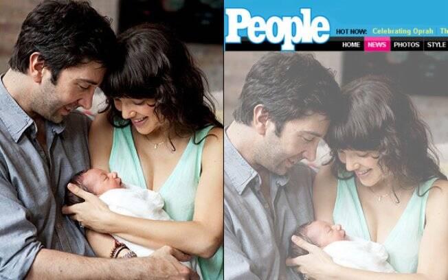 David Schwimmer com a mulher, Zoe Buckman, e a filha, Cleo.