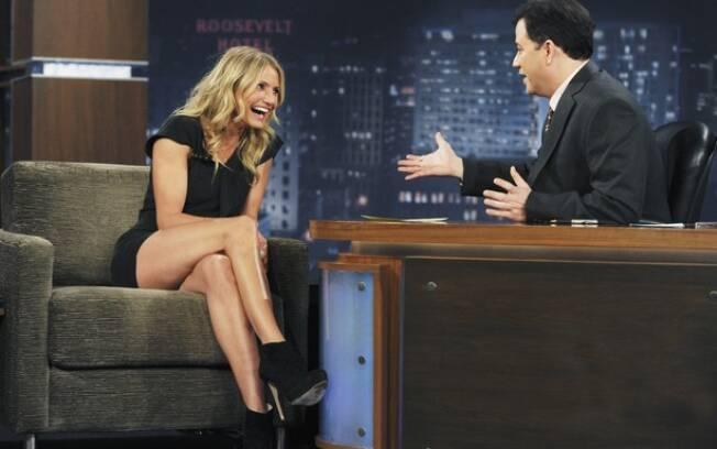 Cameron Diaz no programa Jimmy Kimmel Live: ela adora filmes pornôs!