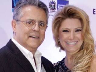 Antonia Fontenelle com o marido Marcos Paulo