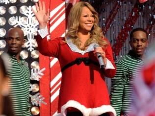 Mariah Carey no show de Natal da Disney, no último dia 3