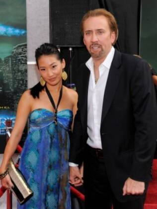 Nicolas Cage e a mulher, Alice Kim
