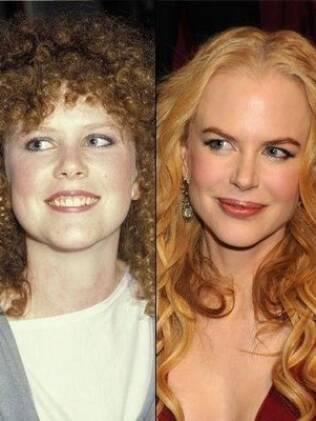 Nicole Kidman nos anos 80 e em 2009