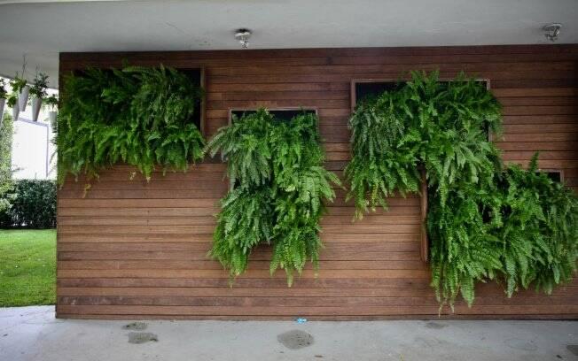 jardim vertical moderno:Na entrada da Casa Cor Trio, o grupo Farah, responsável pelo Jardins