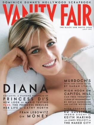 Diana estampou a capa da Vanity Fair um mês antes de morrer