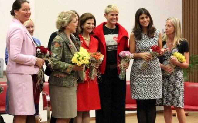 Xuxa com a Rainha Silvia, Marta Suplicy e a Ministra Maria do Rosário