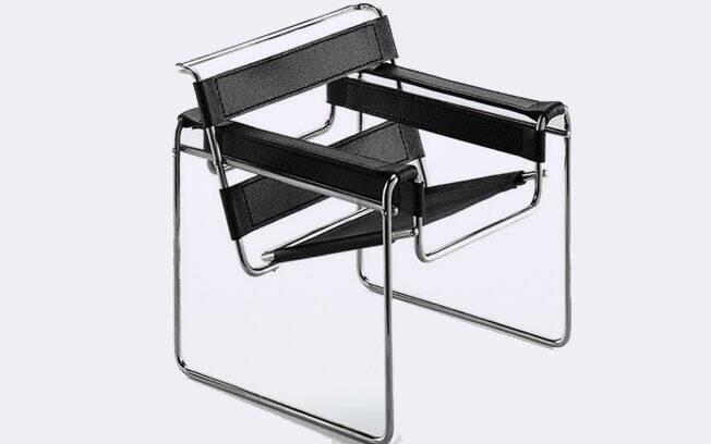 A cadeira Wassily, do designer Marcel Breuer, foi uma das primeiras a explorar o aço tubular