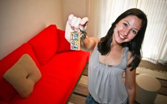 Camila Lima poupou por dois anos e em 2010 mudou para o próprio apartamento