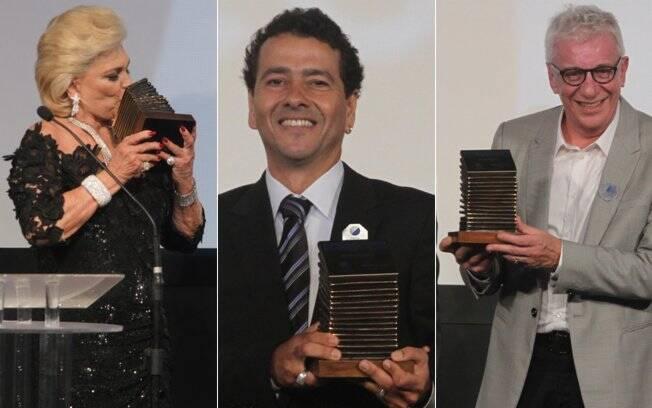 Hebe Camargo, Marcos Palmeira e Marco Nanini