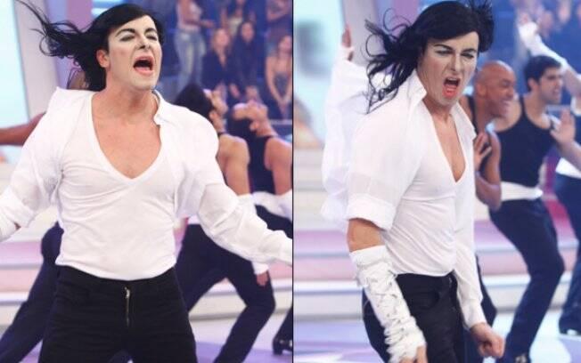 Rodrigo Faro se veste de Michael Jackson novamente para celebrar os dois anos de dancinhas em