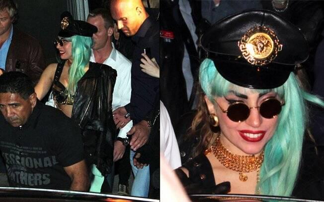 Lady Gaga saindo do clube gay ARQ, em Sydney