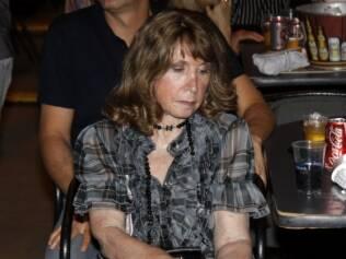 Alda Meneghel no show da dupla Victor e Leo em novembro de 2010
