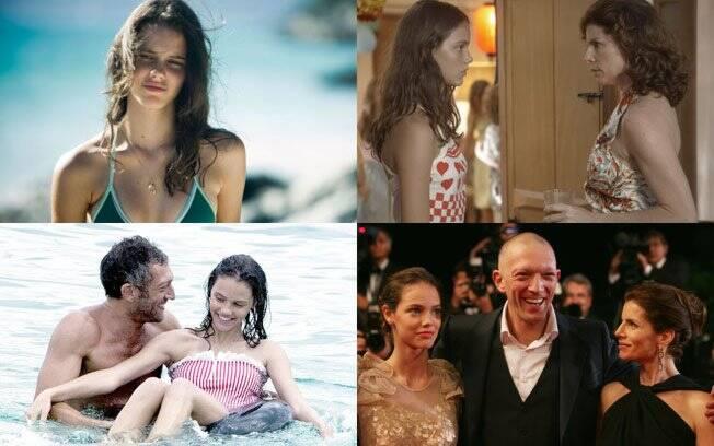 A atriz em cenas do filme