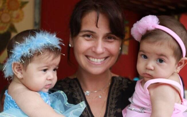 Giovanna Antonelli com as filhas Antonia e Sofia