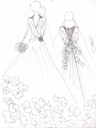Lethicia aposta em uma saia clássica e um véu moderno