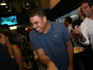 Ronaldo prestigia a inauguração da Bodytech em São Paulo