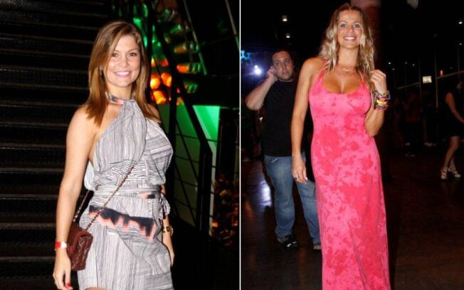 Bárbara Borges e Karina Bacchi curtem o show da cantora