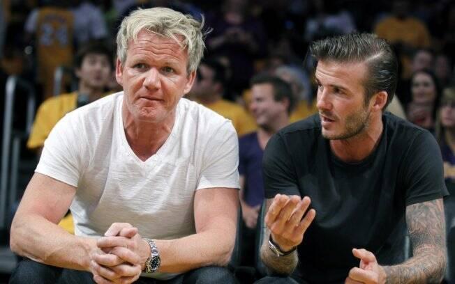 Os amigos Gordon Ramsay e David Beckham