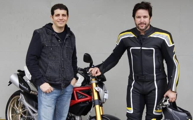 Murilo Benício com o professor Alex Barros