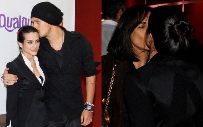 Cleo Pires ganha beijinho do namorado e da mãe