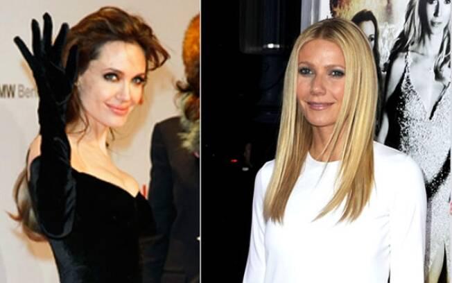 Angelina Jolie e Gwyneth Paltrow: looks parecidos no tapete vermelho