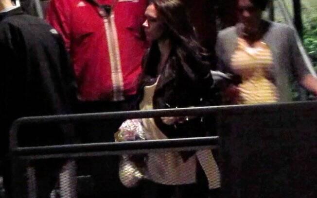 Victoria Beckham no quinto mês de gravidez