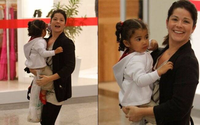Alícia é filha do relacionamento de Samara com o jogador de basquete, Leandrinho