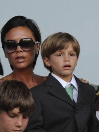 Victoria com o filho Romeo Beckham: elegante aos 8 anos