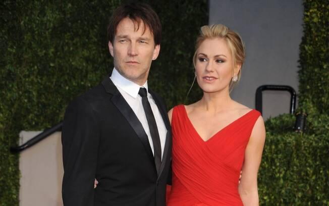 Anna Paquin com o marido Stephen Moyer