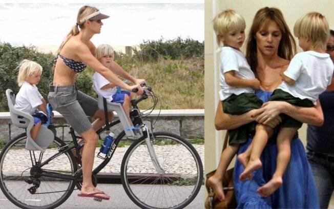 Fernanda Lima: mãe em dose dupla