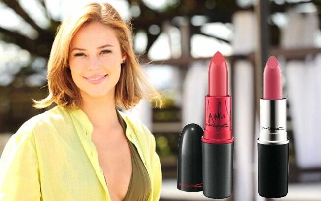 Vermelho: Viva Glam Cyndi | Rosa delicado: Pink Plaid Lipstick