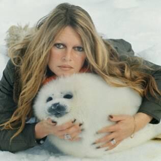 Brigitte Bardot, em foto dos anos 80, luta há décadas pelo fim do massacre das focas