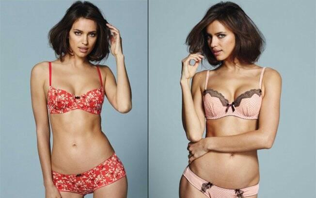 A namorada de Cristiano Ronaldo, Irina Shayk, posa apenas com lingerie
