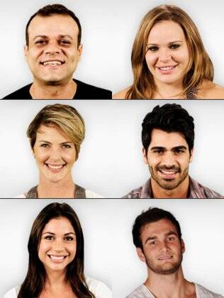 Daniel, Paulinha, Diana, Rodrigão, Maria e Wesley
