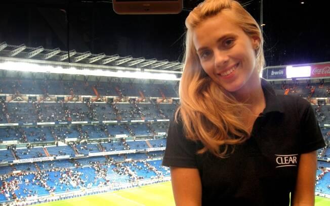 Carolina Dieckmann no Estádio Santiago Bernabéu