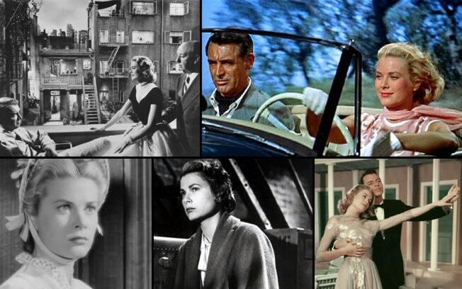 Alguns filmes de Grace Kelly: 'Janela Indiscreta', 'Ladrão de Casaca', 'Matar ou Morrer', 'Amar é Sofrer' e 'High Society'