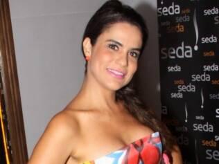 A cantora Gilmelândia também marcou presença no segunda de Carnaval em Salvador