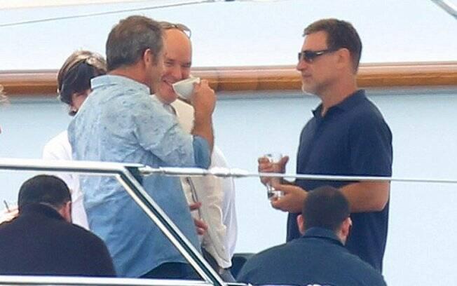 Mel Gibson e o Príncipe Albert
