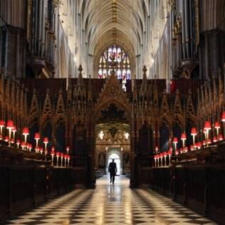 Abadia de Westminster vista de dentro. William casará onde suas avó e bisavó casaram