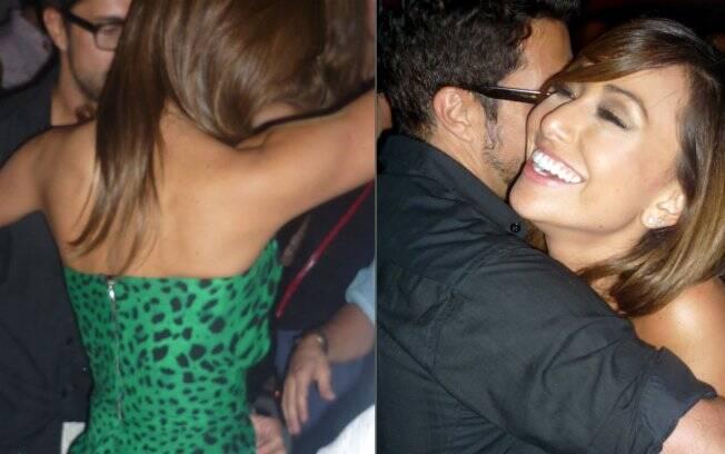Sabrina e Fernando Torquatto dançam juntos na pista